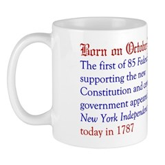Mug: First of 85 Federalist essays supporting the
