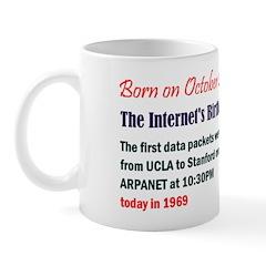 Mug: Internet's Birthday The first data packets we
