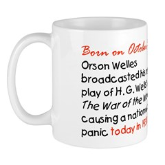 Mug: Orson Welles broadcasted his radio play of H.