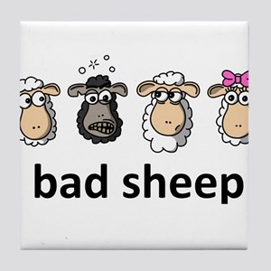 Bad sheep Tile Coaster
