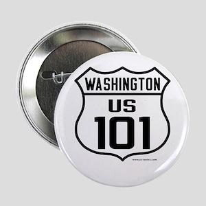 """US Route 101 - Washington 2.25"""" Button"""