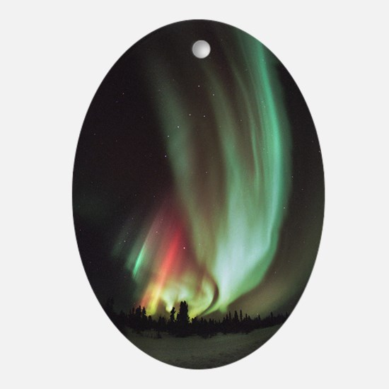 Aurora borealis - Oval Ornament