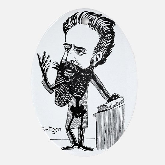 Caricature of Roentgen and X-rays - Oval Ornament