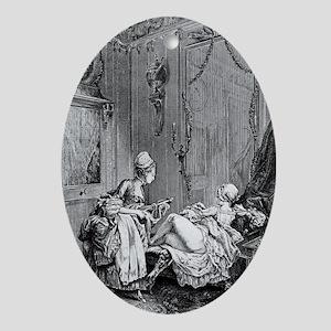 Enema treatment, 18th century - Oval Ornament