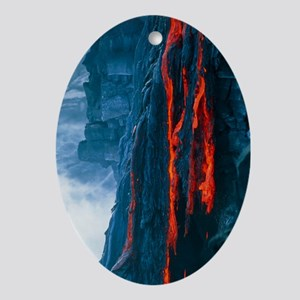 Lava flow - Oval Ornament