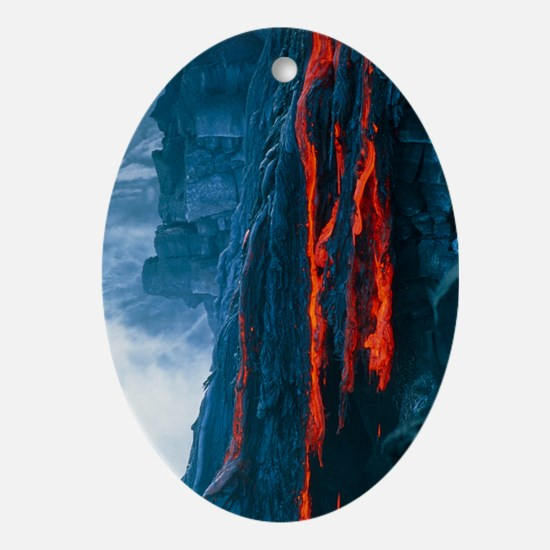 Lava flow - Oval Ornament