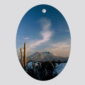 Mount St Helens volcano - Oval Ornament