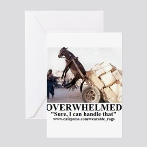 OVERWHELMED2 Greeting Cards