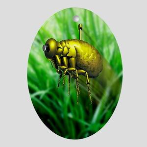Nanodrone, artwork - Oval Ornament