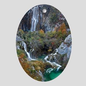 Plitvice National Park - Oval Ornament