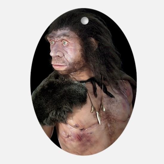 Neanderthal man - Oval Ornament