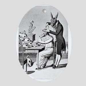 Phrenology, satirical artwork - Oval Ornament