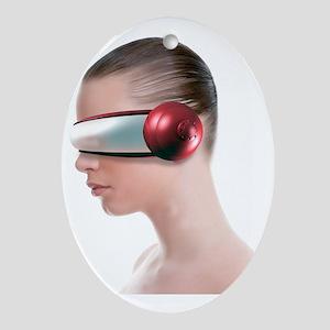 Virtual reality headset - Oval Ornament
