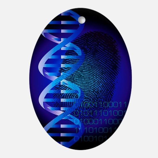 DNA fingerprint - Oval Ornament