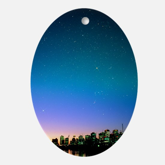 Starry sky over Vancouver, Canada - Oval Ornament