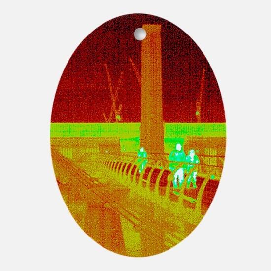 Tate Modern, UK, thermogram - Oval Ornament