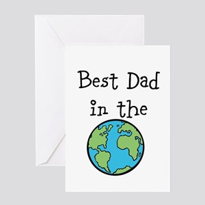 Best Dad in the world Greeting Card