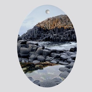Columnar basalt rock - Oval Ornament