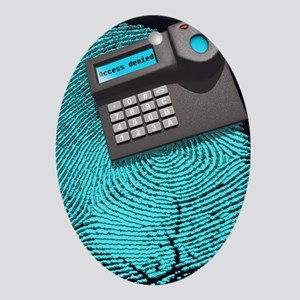 Fingerprint scanner - Oval Ornament