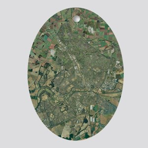 Peterborough, aerial image - Oval Ornament