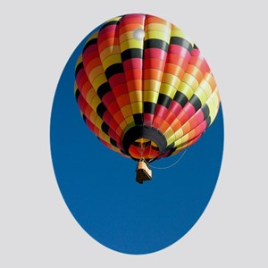 Hot air balloon - Oval Ornament
