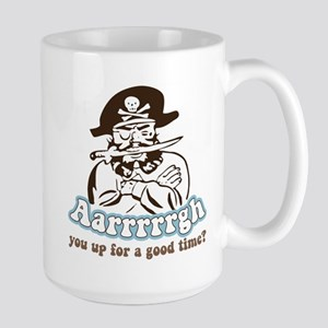 Arrrrgh Funny Pirate Large Mug