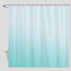 Aqua Sky Gradient Shower Curtain