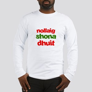 Nollaig Shona Dhuit - Celtic Long Sleeve T-Shirt