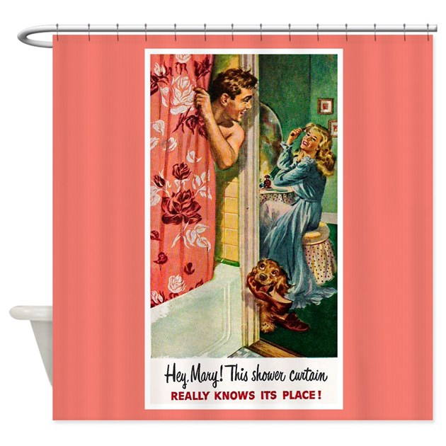vintage shower curtains retro bathroom shower curtain by cafepretzel 29059