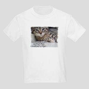 God Made Cats... Kids Light T-Shirt