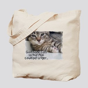 God Made Cats... Tote Bag