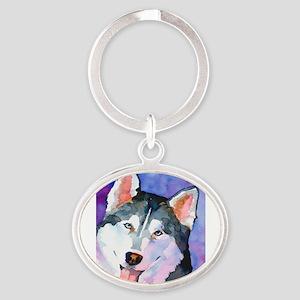 Husky #1 Oval Keychain