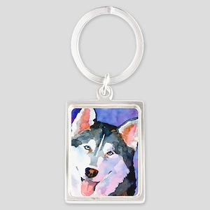 Husky #1 Portrait Keychain