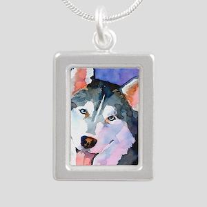 Husky #1 Silver Portrait Necklace