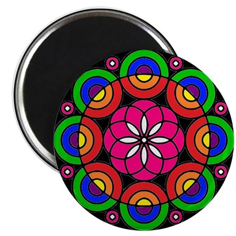 Radial Design Circle Art Mandala Magnet