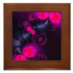 Rose Flower Fairy Framed Tile