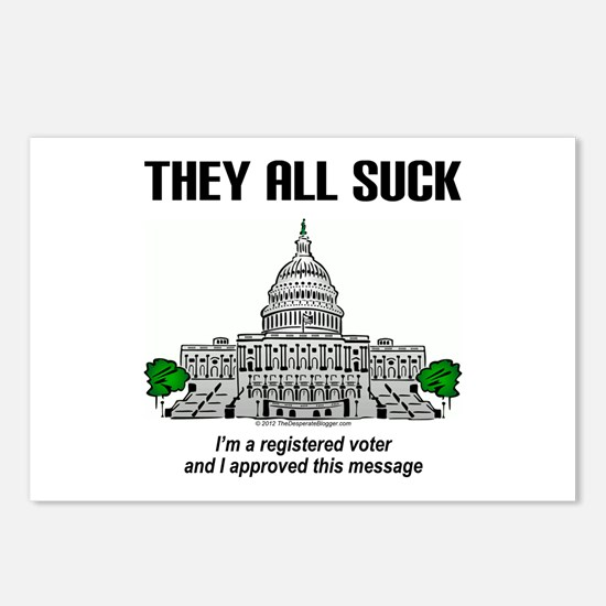 """I approved this message."" Postcards (Package of 8"