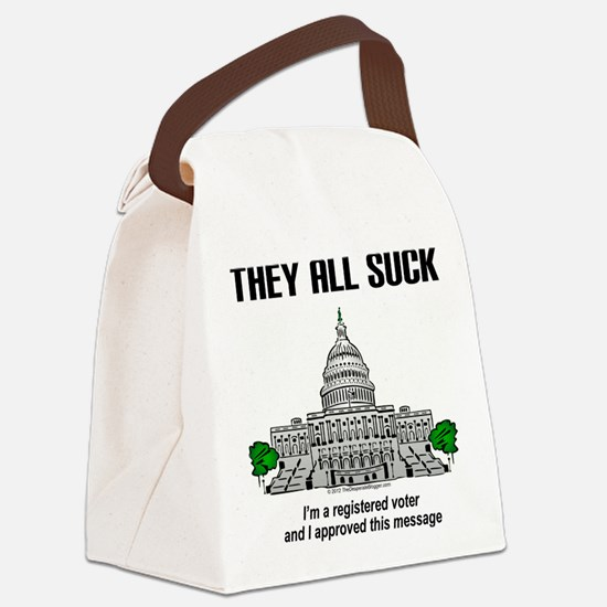"""I approved this message."" Canvas Lunch Bag"