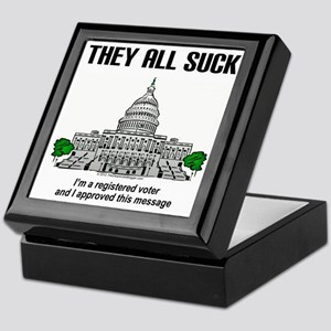 """I approved this message."" Keepsake Box"