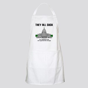 """""""I approved this message."""" Apron"""