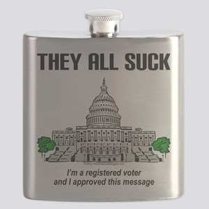 """I approved this message."" Flask"