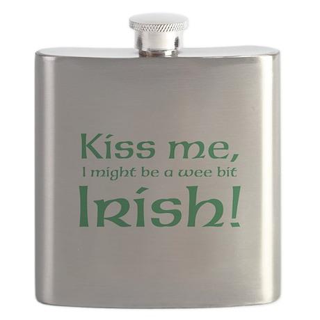 Kiss me, I might be a wee bit Irish! Flask