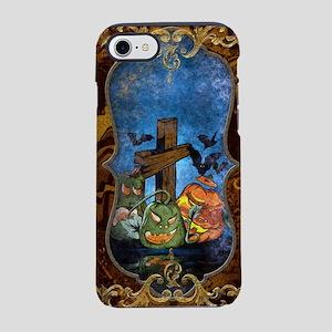 Funny halloween design with pumpkin iPhone 7 Tough