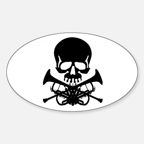 Skull with Trumpets Decal