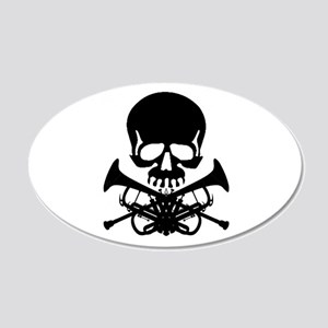 Skull with Trumpets Wall Decal