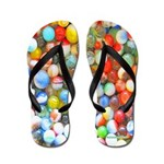 Colorful Marbles Flip Flops