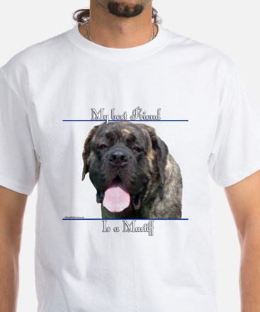 Brindle 18 White T-Shirt