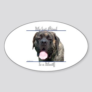 Brindle 18 Oval Sticker