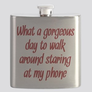 Staring at my Phone Flask