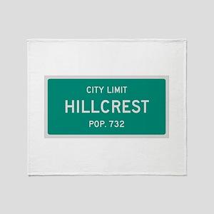 Hillcrest, Texas City Limits Throw Blanket